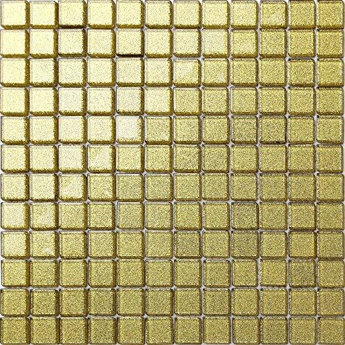 Glas-mosaik-fliese (Glas Mosaik Fliesen Matte in Gold MT0080)