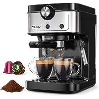 Sboly Espressomaschine, 2 In 1 Kaffeemaschine für Original Nespresso Kaffeekapseln und gemahlenen Kaffee, 19 Bar…