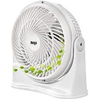 Venga! VG VT 3003 Ventilateur de bureau à 3 lames et 3 vitesses, 20 cm, 30 W, Blanc