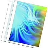 Fellowes 53154 - Standard - Pack de 100 Couvertures de reliure pré-encollées face PVC dos brillant 150 microns + 200g 6 mm A4