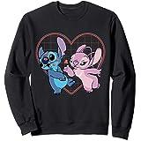 Disney Lilo and Stitch Angel Heart Kisses Sweatshirt