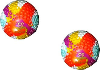 Rhino Dimple Bronze Hockey Turf Ball -Multi Colour (Pack of 2 Balls)
