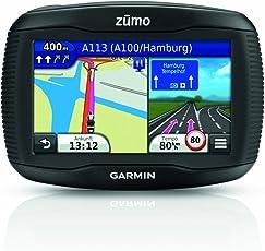 Garmin zumo 340LM Motorrad Navi (10,9cm (4,3'') Touchscreen, SD-Kartenslot, USB), Zentraleuropa Kartenmaterial