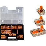 WAGO Sortiment set NR 1 Variobox Wago-klämmor box anslutningsklämmor 221-412   221-413   221-415   100 stycken inkl. sortimen
