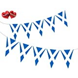 Party Decor Scottish St Andrews Cross Patriotic Themed Bunting Banner 15 flags of Scotland for guaranteed simply stylish part