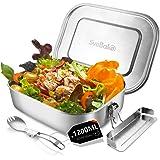 SveBake Lunchbox Edelstahl Auslaufsicher - 1200ml Brotdose aus Metall mit fächer - Lunchbox Geeignet für Schule, Kinder & Erw