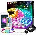 LED Strip Verlichting 5M, RGB Smart LED Lights Gecontroleerd door App & Afstandsbediening, Verkleurd LED Strips Werk met Alex