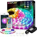 LED Strip Kompatibel med Alexa/Google Home, SHOPLED 5M Smart WiFi LED Lights Styrs av APP och fjärrkontroll, Musiksynkroniser