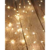 Litogo Luci LED Batteria, Catena Luminosa 5m 50 LED Fairy Light Filo Rame Ghirlanda Luminosa Lucine LED Decorative Waterproof