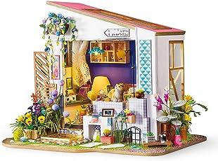 ROBOTIME Miniatur Puppenhaus Kits für Erwachsene - Niedliche Zimmer 14 Jahre Alt Mädchen Geschenk - Veranda Modell Haus aus Holz