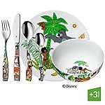 WMF Disney El Libro de la Selva - Vajilla para niños 6 piezas, incluye plato, cuenco y cubertería