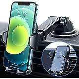VANMASS Telefoonhouder voor de auto, 3-in-1 ventilatie en zuignap, stabiel, 100% siliconen bescherming, telefoonhouder voor d
