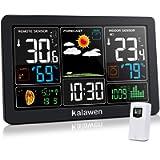 Kalawen Weather Station with Outdoor Indoor Sensor, MSF Wireless Digital Alarm Clock, Barometer, Temperature, Humidity…