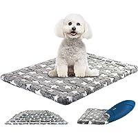 KROSER Hundematte 61/76/91/106/122 cm Stilvolles Haustiermatte Wende Bettbettmatte (Warm und Kühl) Weiches Hundebett…