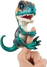 Wow Wee Fingerlings Untamed Velociraptor Blau Fury - 3783/ interaktives Spielzeug, reagiert auf Geräusche, Bewegungen und Berührungen
