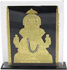 GoldGiftIdeas 24K Gold Plated Lord Ganesha Gifting Photo Frame, Ideal Occasional Gift