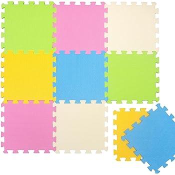 LittleTom Tapis Puzzle jeux pour enfants Puzzles de Sol en mousse EVA 10 fragments dimension globale env 0,9m² jouet décoration de chambre de bébés