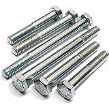 High Tensile Hex Head Bolt Pack of 2 Zinc Plated M16 16mm Diameter Thread x 115mm Long