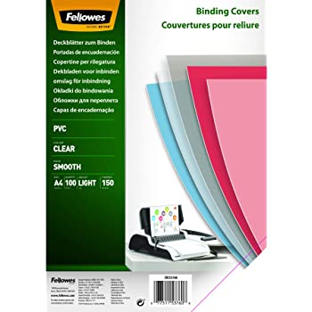 A4 - 3383540 Pack of 100 150 micron Clear Binding Covers