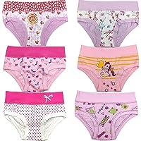 (6pz) Slip Bimba Emy in Fantasie Diverse (Immagine indicativa) assortite Secondo la disponibilità di LadyC Underwear
