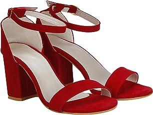 VAGON Women's Suede Leather Block Heels