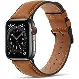 Tasikar Correas para Correa Apple Watch 44mm 42mm Diseño de Cuero Genuino Correa de Repuesto Compatible con Apple Watch SE Se