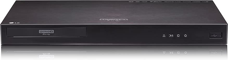 LG UP970 Ultra HD Blu-Ray Player (Multi HDR, 4K Streaming, WLAN) Schwarz