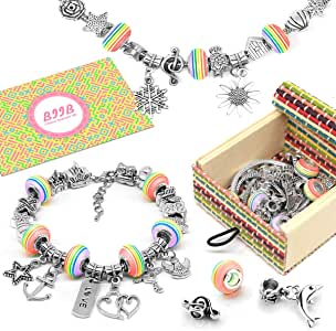 Biib Girls Charm Bracelet Making Kit Gifts For Teenage Girls Girls Jewellery Making Kits For Kids Girls Gifts For 8 12 Year Old Girls Diy Arts And Crafts For Kids Top Christmas