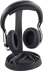 auvisio Kopfhörerhalterung: Massiver universeller Metall-Kopfhörer-Ständer, Kabelablage, Schwarz (Kopfhörer-Halter)