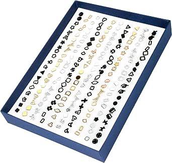 Donna Orecchini, 100 Paia di Orecchini Geometrici, Orecchini da Donna, Orecchini a Forma Cava Ipoallergenici, Regali di Natale Set Orecchini Per, È un Regalo di Compleanno per Una Ragazza