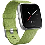 KIMILAR Armband compatibel met Fitbit Versa/Versa 2/Versa Lite Edition armband stof, snelspanner, nylon reserveband met roest