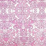 Mantel de hule para mesa (120 cm ancho - largo por medio metros) Modelo encaje rosa - Fantastik
