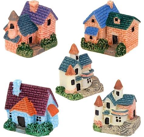 Miniature Dollhouse Fairy Garden Landscape Decor Pedestrian Bridge Yellow