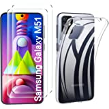 ELTD for Samsung Galaxy M51 Case with Screen Protector【2 Pack】,Crystal Clear Soft Thin Cover Anti-Yellowing With Scratch Resi