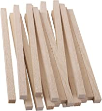 Segolike 20 Pieces Wood Art Craft Wooden Sticks Pieces Dowels Pole Rods Sweet Trees Wood Stick 200mmx10mm