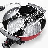WYING 6L Grande capacité intérieure Hot Pot de Friction, Barbecue électrique, cuisinière électrique multifonctionnelle antiad