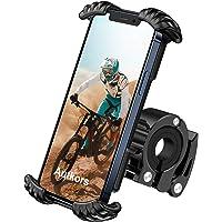 Autkors Support Téléphone Vélo, Support Téléphone Moto Support de Guidon 360° Rotation Anti-Vibrations pour iPhone 12/11…