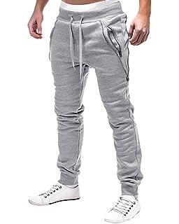 MODCHOK Homme Pantalon Jogging Bas de Survêtement Sweat