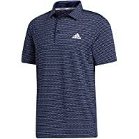 adidas Golf Mens Ultimate365 Space-Dye Striped Polo Shirt