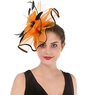 Party Kopfbedeckung f/ür M/ädchen WELROG Frauen Fascinators Net Garn Handgemachter Hut