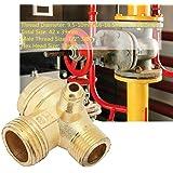 Válvula de retención del compresor de aire de Latón relleno de tres vías Unidireccional,valvula de retencion aire,De color do