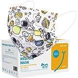 Acewin Einwegmasken Kinder Bunt CE Zertifiziert - 50/100 Stück Kinder Einweg Masken Atmungsaktive Staubdicht 3 Lagig Filtrier
