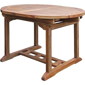 Tavolo Esterno Allungabile Legno.Tavolo Da Giardino Allungabile In Legno Teak Amazon It Giardino E