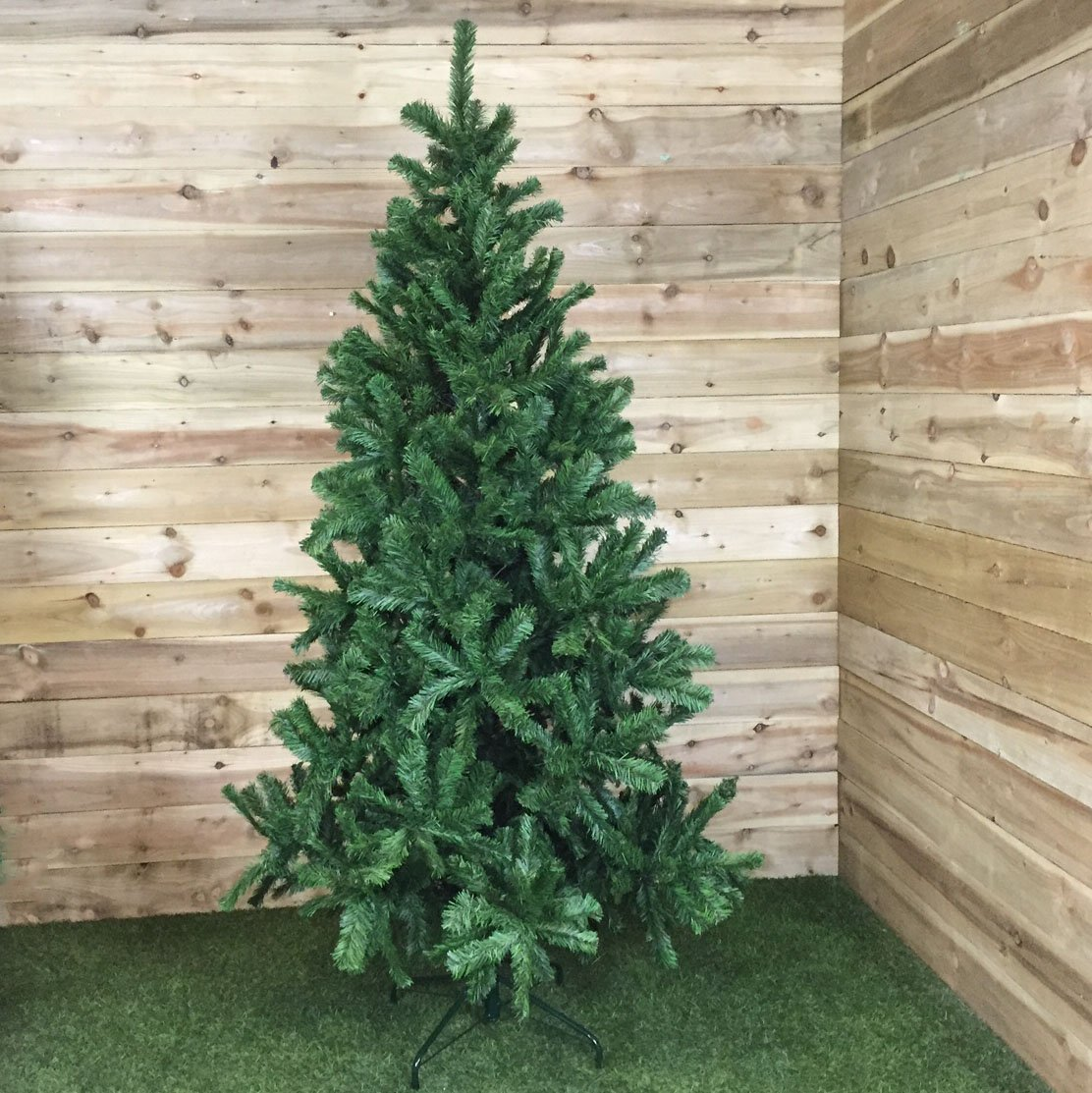 Slim Green Colorado Spruce Artificial Christmas Tree (2.1m / 7ft ...