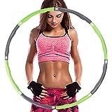 Aoweika Hula Hoop für Erwachsene Zur Gewichtsreduktion,EIN 6-8-Teiliger Abnehmbarer Fitness Reifen,für Fitness/Training/Bauch