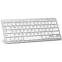 OMOTON deutsche Bluetooth Tastatur für iPad 10.2,iPad 2018/2017,iPad 7/6/5/4/3/2,iPad Air 2/1,iPad Pro 10.5, iPad Pro 12.9,iPad Mini Serie und iPhone Handy, QWERTZ Layout,Kompaktes Design