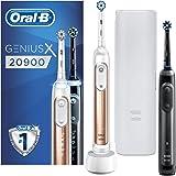Oral-B Genius X 20900 Elektrische Tandenborstels Duoverpakking Rosegold En Zwart