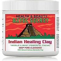 Aztec Secret - Indian Healing Clay   100% Pure Calcium Bentonite for Skin & Hair   Makes Skin Healthy & Glow (454g…