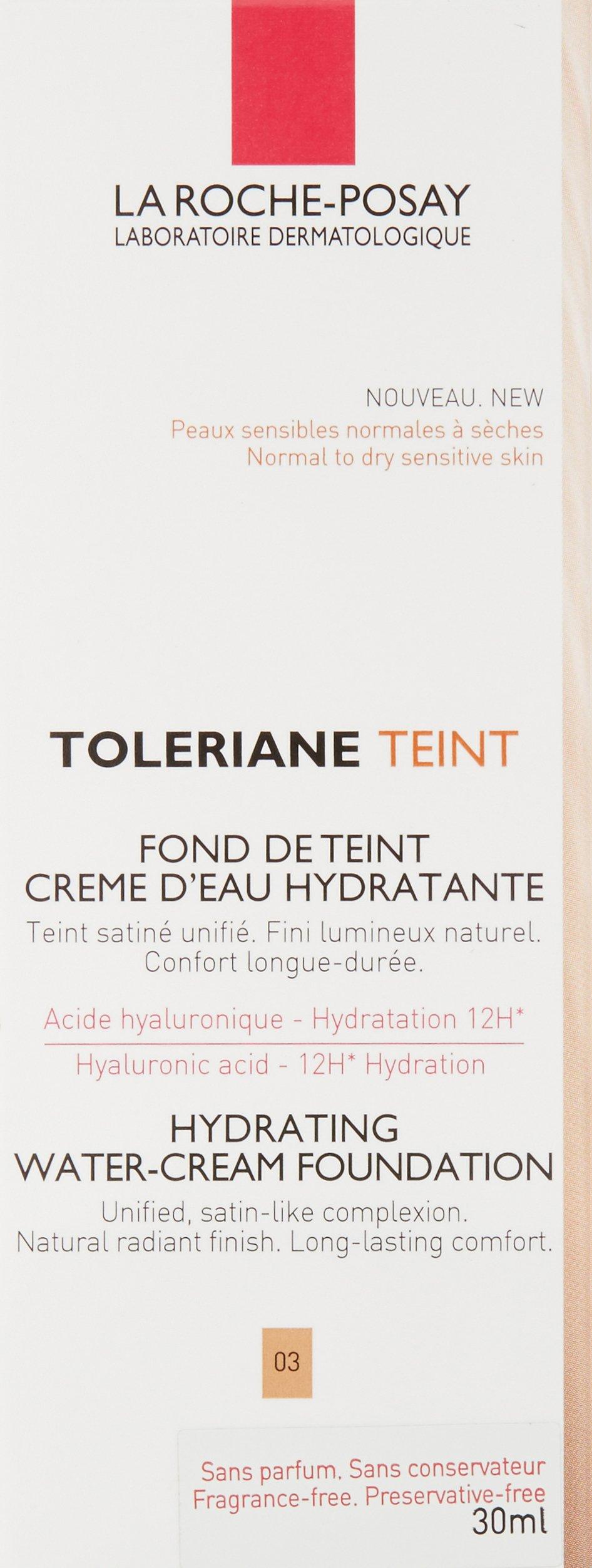 La Roche Posay Toleriane Fond De Teint Creme D'Eau Hydratante 03 30-1 Unidad
