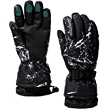 Guantes de esquí impermeables invierno cálido guantes de snowboard frío pantalla táctil para deportes al aire libre hombres m